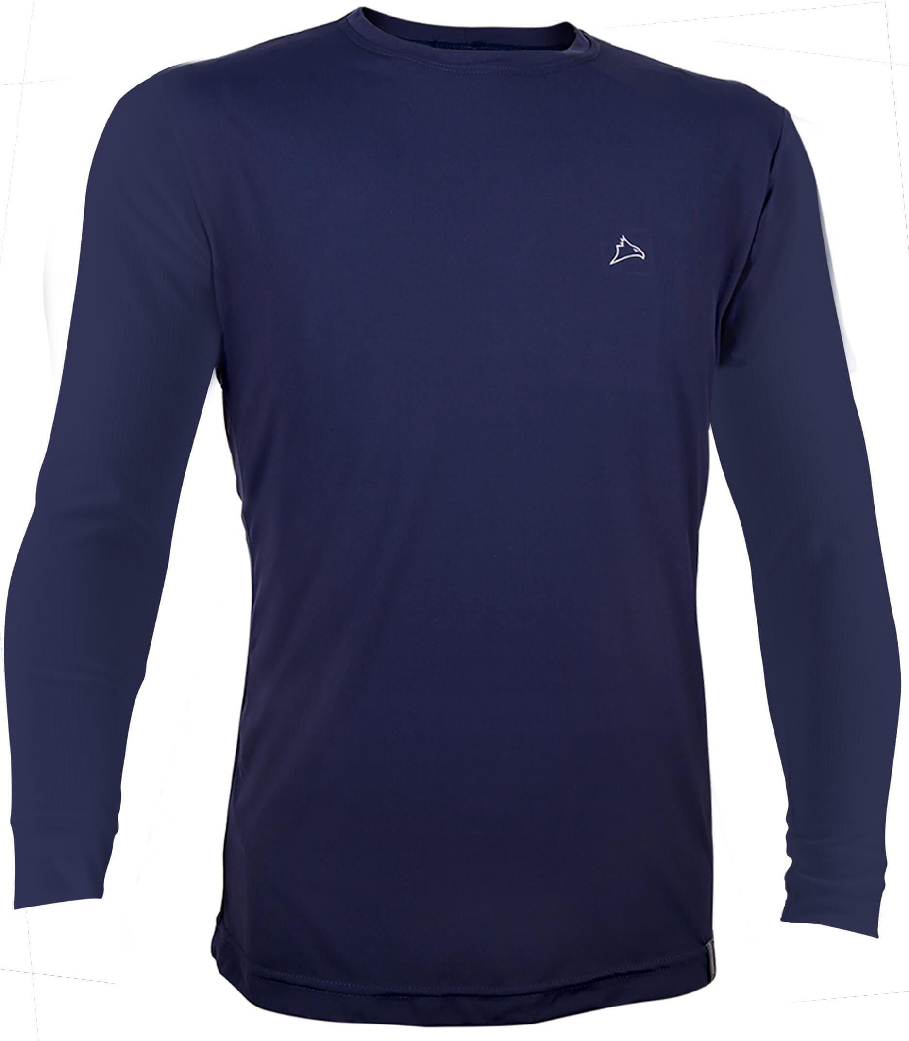Camiseta ML  Dry Cool UPF50+ Azul Marinho - CONQUISTA