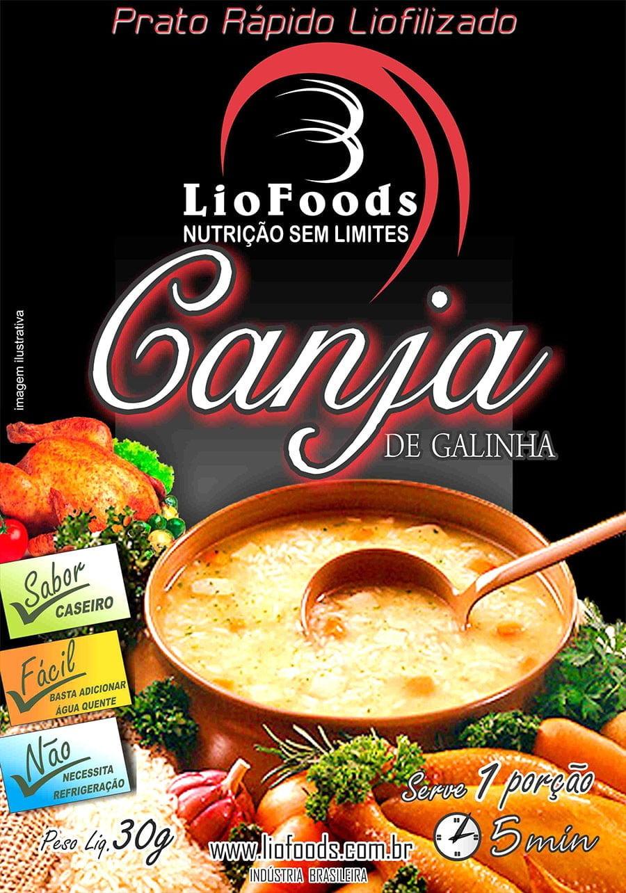 COMIDA LIOFILIZADA CANJA DE GALINHA LIOFOODS