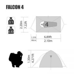 Barraca Falcon 4  - NTK