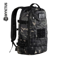 MOCHILA TÁTICA  RUSHER MULTICAM BLACK - INVICTUS