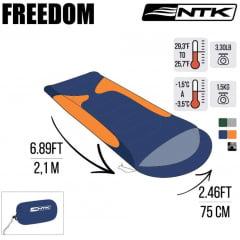 SACO DE DORMIR FREEDOM -1ºC / -3,5ºC LARANJA - NTK