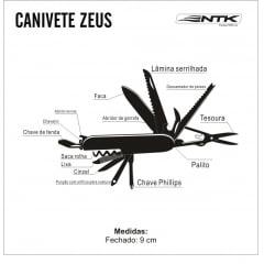 Canivete Zeus - Ntk