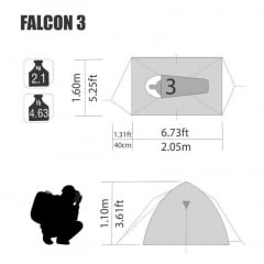 Barraca Falcon 3  - NTK