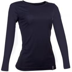 Camiseta ML  Dry Cool UPF50+ Fem Preto  - CONQUISTA