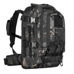 MOCHILA TÁTICA DUSTER MULTICAM BLACK - INVICTUS