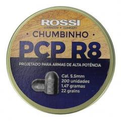 Chumbinho PCP R8 5,5mm 200 unid Rossi