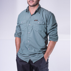 CAMISA SAFARI MASCULINA VERDE - HARD ADVENTURE